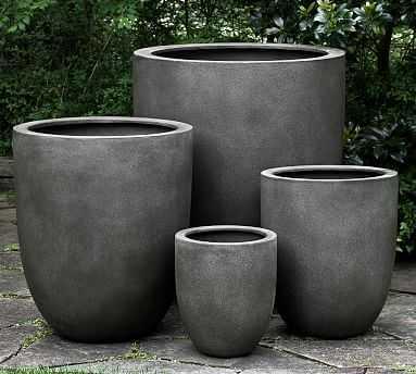 Neo Planter, Small, Concrete - Pottery Barn