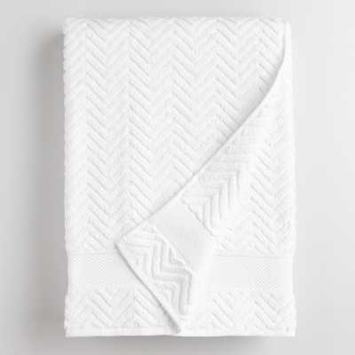 White Chevron Spa Bath Sheet - Cotton by World Market - World Market/Cost Plus