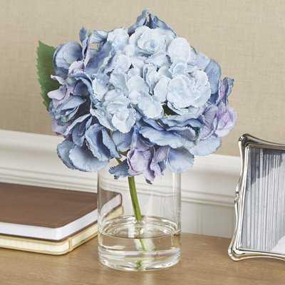 Faux Blue Hydrangea Stem - Birch Lane