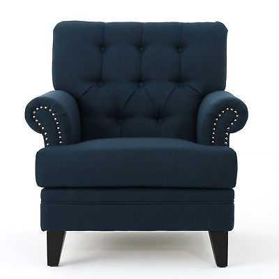 Alcott Hill Elliott Bay Armchair: Navy Blue - eBay