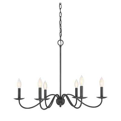 Filament Design 6-Light Aged Iron Chandelier - Home Depot