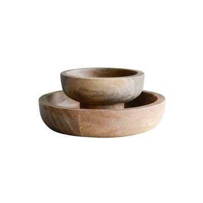 Gohoho Mango Wood 2 Piece Decorative Bowl Set - Birch Lane