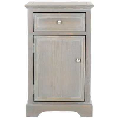 Jarome French Grey Storage End Table, French Gray - Home Depot