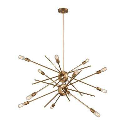 Titan Lighting Xenia 12-Light Matte Gold Chandelier - ELKLIGHTING