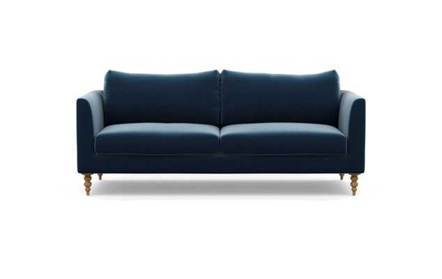 Owens Sofa with Sapphire Fabric and Natural Oak legs - Interior Define