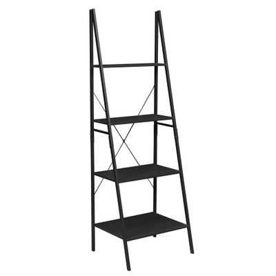 Soho Ebony Ladder Bookcase - Home Depot