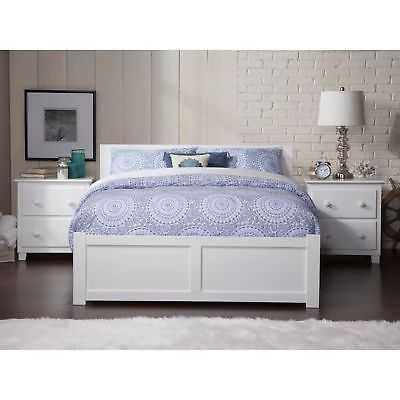Orlando White Full-size Flat Panel Bed with Urban Trundle - eBay