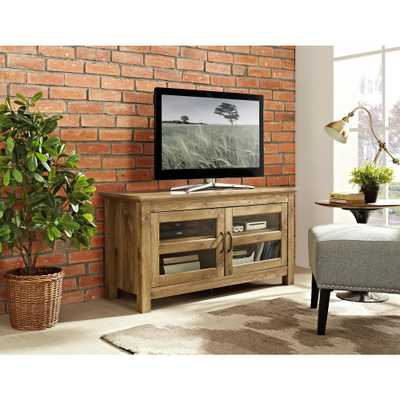 44 in. Wood TV Media Stand Storage Console - Barnwood - Home Depot