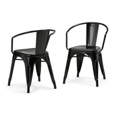 Larkin Metal Dining Chair (set of 2) - Wayfair