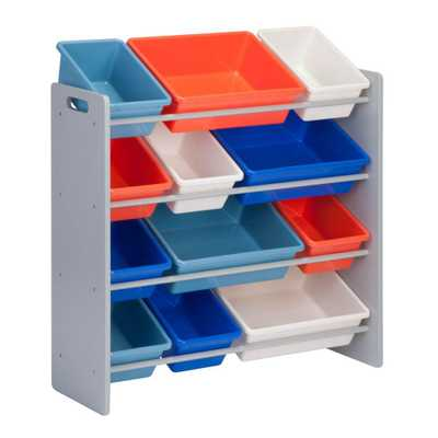 13 in. x 36 in. H Kids Storage Organizer and Toy Sorter, Multi-Colored - Home Depot