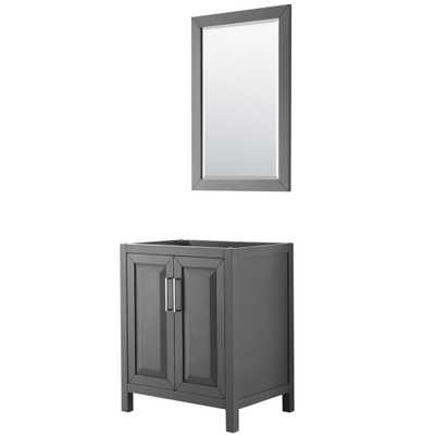 Wyndham Collection Daria 29 in. Single Bathroom Vanity Cabinet Only with 24 in. Mirror in Dark Gray - Home Depot