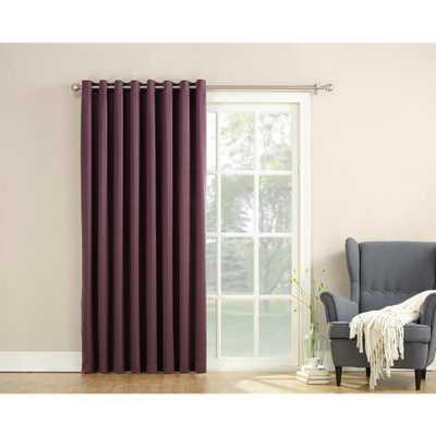 Sun Zero Semi-Opaque Gregory 100 in. by 84 in. Solid Window Patio Panel in Plum (Purple) - Home Depot