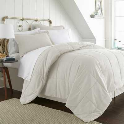 Bed In A Bag Performance Ivory California King 8-Piece Bedding Set - Home Depot