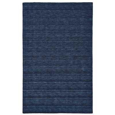Larissa Hand-Woven Dark Blue Area Rug - Wayfair