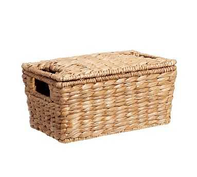 Savannah Lidded Basket, Small - Pottery Barn