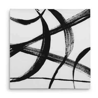 'Gestural Marks I' Oil Painting Print on Wrapped Canvas - Wayfair