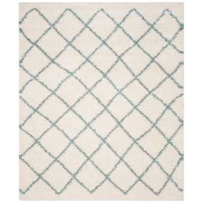 Dallas Shag Ivory/Seafoam 10 ft. x 14 ft. Area Rug - Home Depot