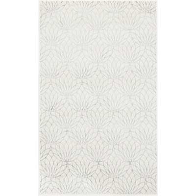 Glam Ivory Area Rug - Wayfair