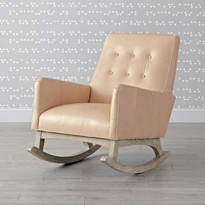 Everly Leather Tufted Rocking Chair - Crate and Barrel