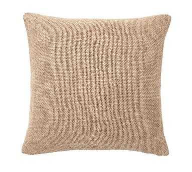 "Faye Textured Linen Pillow Cover, 20"", Bronze - Pottery Barn"