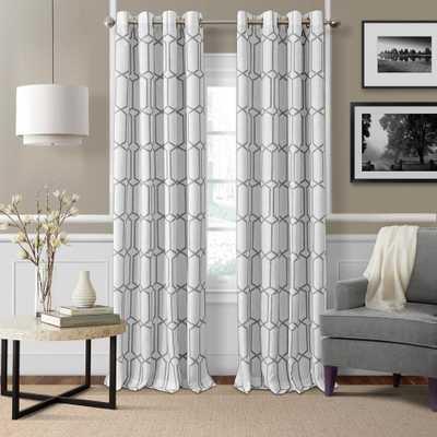 Elrene Kaiden Gray Single Blackout Window Curtain Panel - 52 in. W x 95 in. L - Home Depot