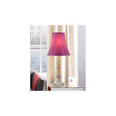 Bohemian Table Lamp Stacked Colored Glass Orchid Shade for Kids Room Bedroom - eBay