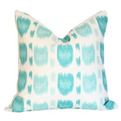 Cintra Turquoise - 18x18 pillow cover (lumbar) - Arianna Belle