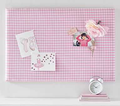 Gingham Pin Board, Pink - Pottery Barn Kids