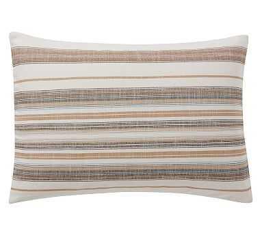 "Franco Stripe Pillow Cover, 20X30"", Natural Multi - Pottery Barn"