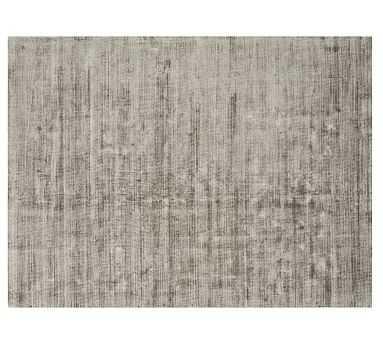 Jada Viscose Rug, 8 x 10', Silver Gray - Pottery Barn