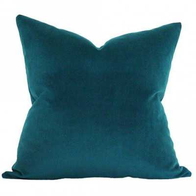 Peacock Velvet - 20x20 pillow cover (square medium) - Arianna Belle