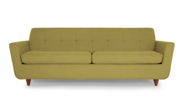 Green Hughes Mid Century Modern Sleeper Sofa - Key Largo Grass - Medium - Joybird