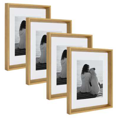 Calter 11 in. x 14 in. matted to 8 in. x 10 in. Gold Picture Frame (Set of 4) - Home Depot