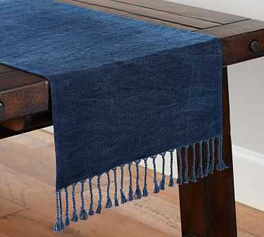 Indigo Knotted Table Runner - Pottery Barn
