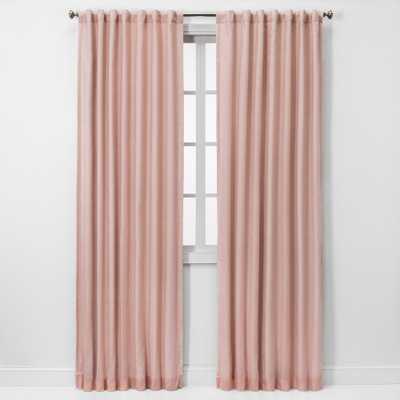 "84""x50"" Blackout Window Curtain Panel Pink - Threshold - Target"