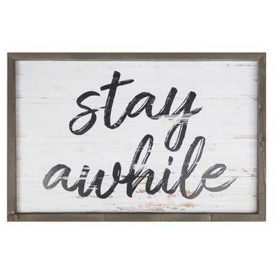Stay Awhile Frame Wall Décor - Birch Lane