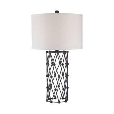 Titan Lighting Exposition 29 in. Bronze Table Lamp - Home Depot