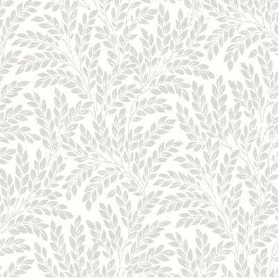 "Tubbs 33' L x 20.5"" W Leaf Floral and Botanical Wallpaper Roll - Birch Lane"