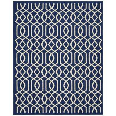 Fretwork Indigo/Ivory (Blue/Ivory) 100% Polypropylene. Area Rug - Home Depot