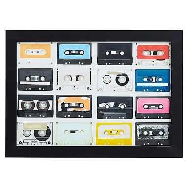 Colorful Cassette Framed Art - Pottery Barn Teen
