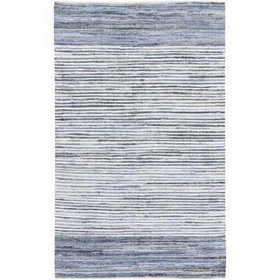 Phillips Hand-Woven Cotton Blue/Navy Area Rug - Wayfair