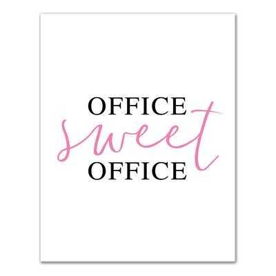 'Office Sweet Office' Textual Art - Wayfair