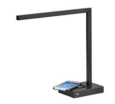 Greene PB Charge LED Task Lamp, Brushed Steel - Pottery Barn