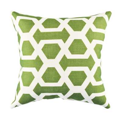 18 in. x 18 in. Bold and Electric Green Pillow - Home Depot