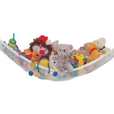 Toy Storage Corner Hammock and Toy Chain Combo Pack, White - Home Depot