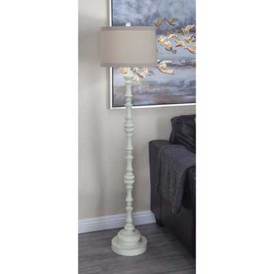 61 in. Classic Polystone Baluster Floor Lamp - Home Depot