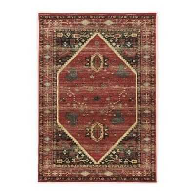 Hawthorne Collection 2' x 3' Rug in Red and Black - eBay