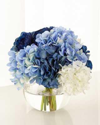 Baby Blue Floral Arrangement - Horchow