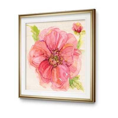 'Botanical Peony' Framed Graphic Art Print - Wayfair