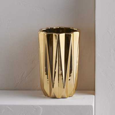 Gold Cylinder Table Vase - Wayfair